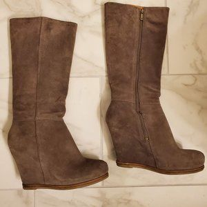 Lucky Brand Gray Wedge Boots